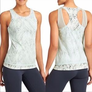 Athleta Palm Radiance Tye Dye Double Layer Tank